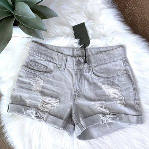 ALLSAINTS 'Pam' Distressed Frayed Denim Shorts